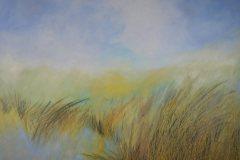 Öl- + Acryl Lotti Haerdi Graslandschaft