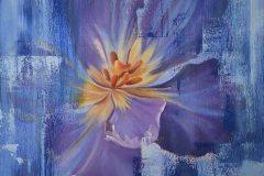 Öl- + Acryl Lotti Haerdi Tulpe Blau