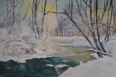Öl- + Acryl Lotti Haerdi Winterlandschaft