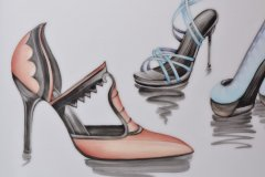 Porzellanmalen Lotti Haerdi  Vase Models und Stilettos 1