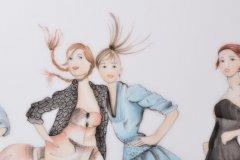 Porzellanmalen Lotti Haerdi  Vase Models und Stilettos 2